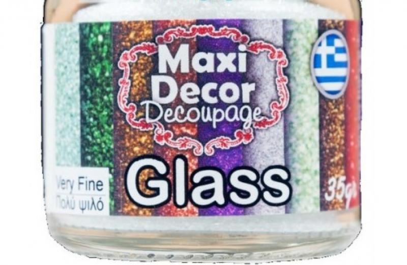 Κρυσταλλάκια διαφανή θραύσματα γυαλιού σε 4 επιλογές 35gr