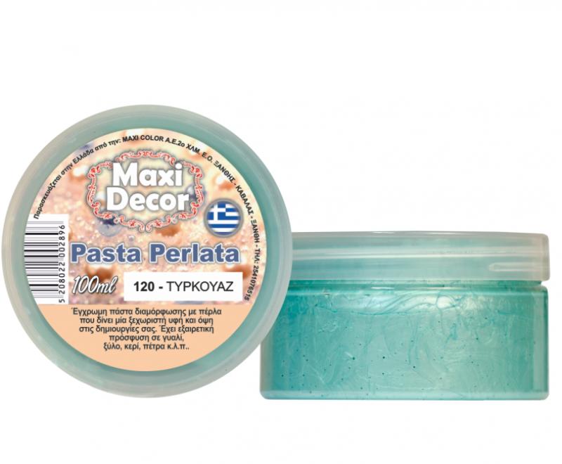 Pasta Perlata έγχρωμη για decoupage 100ml Τυρκουάζ PP120