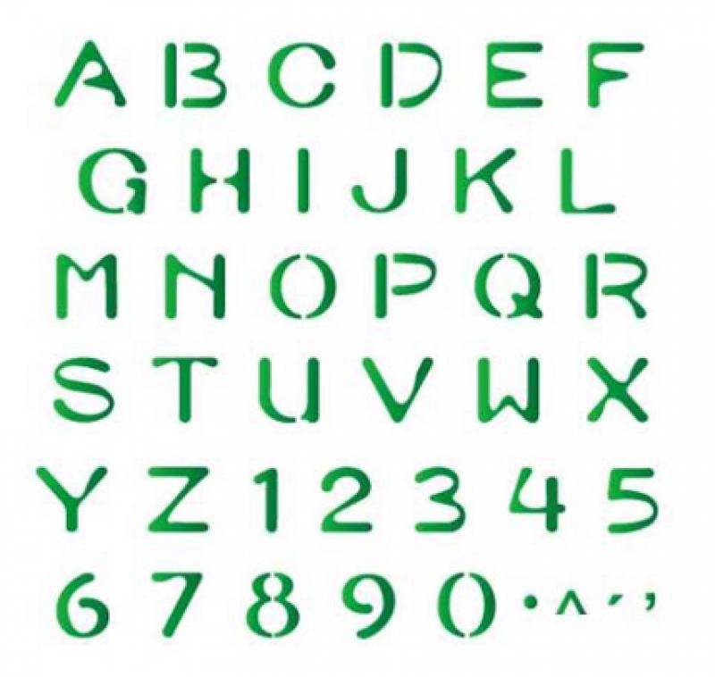 stensil 20χ25 Simple Alphabet 477
