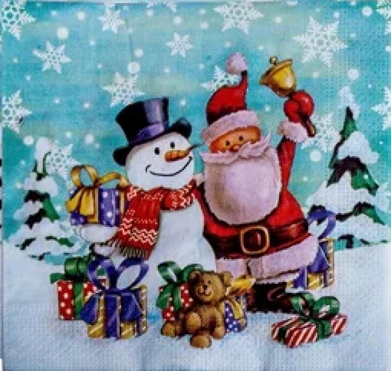 Χαρτοπετσέτες Decoupage 35 x 35 Χριστουγεννιάτικο decor