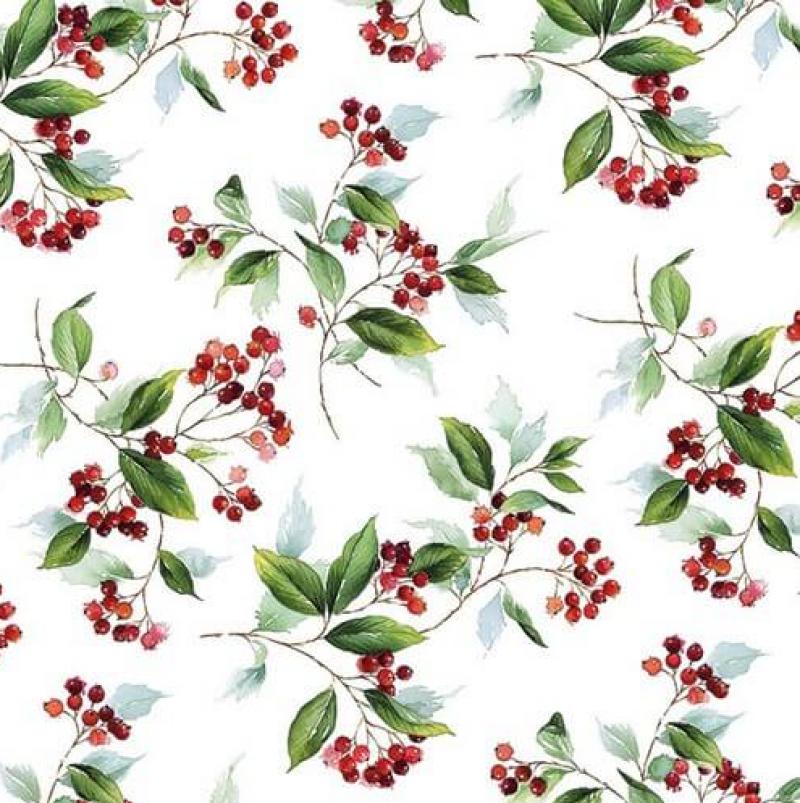 Χαρτοπετσέτες Decoupage 35 x 35 Winter_Foliage