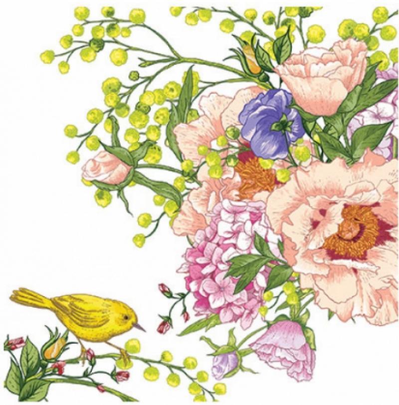 Πουλί στο λουλούδι
