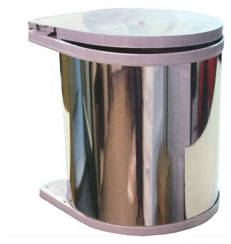 Κάδος Απορριμμάτων κουζίνας  INOX με μηχανισμό   13lit