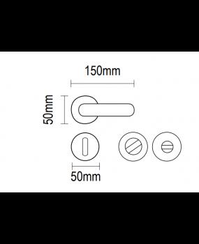 Χερούλι πόρτας αντικέ ροζετα ορείχαλκος 06.1030