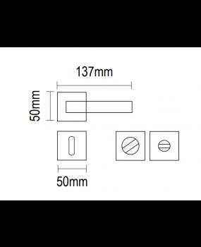 Χερούλι πόρτας Ροζέτα ορείχαλκος 06.547 viometal