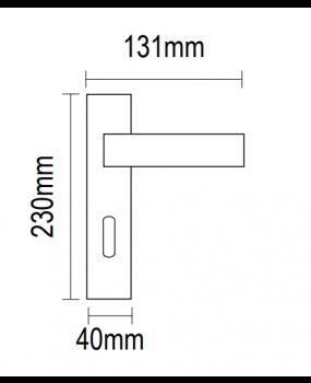 Χερούλι πόρτας πλάκα νίκελ ματ 06.930
