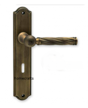 Χερούλι πόρτας αντικέ  πλάκα ορείχαλκος 06.1030