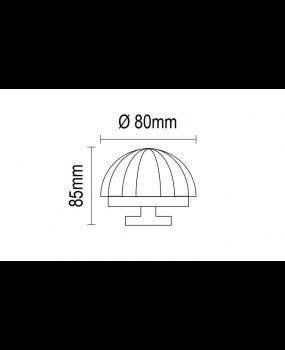 Μπούλ εξώπορτας ζάμακ σε νίκελ ματ/χρώμιο  07.18/80