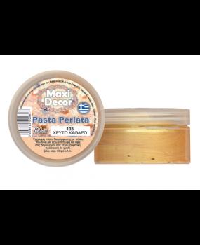 Pasta Perlata έγχρωμη για decoupage 100ml Χρυσό καθαρό PP 103