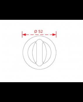 Ροζέτα με κλείστρο ασφαλείας  Νίκελ ματ και Όρο Ματ C1045