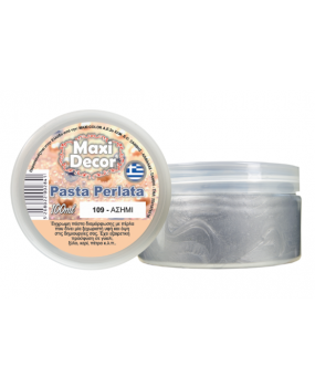 Pasta Perlata έγχρωμη για decoupage 100ml Ασημί PP 109