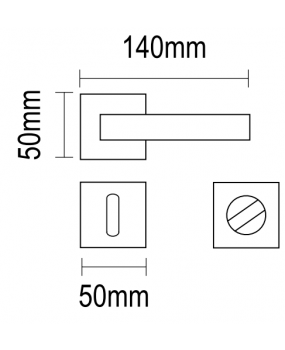 Χερούλι πόρτας ροζέτα νίίκελ ματ  06.1110 viometal