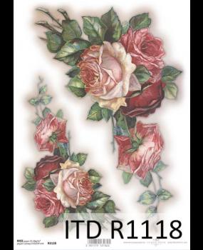Ριζόχαρτο Α4 40gr R1118 Κόκκινο Τριαντάφυλλο