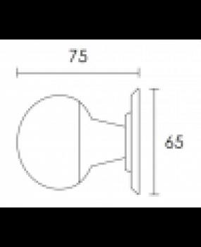 Μπούλ εξώπορτας νίκελ ματ C521