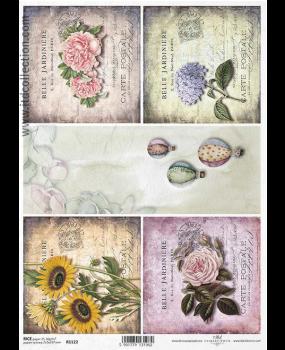 Ριζόχαρτο Α4 40gr Κολάζ λουλουδιών 1122