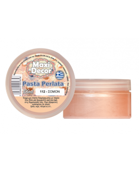 Pasta Perlata έγχρωμη για decoupage 100ml Σομόν PP 112