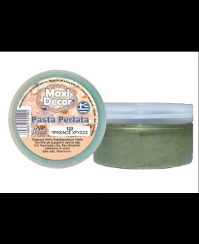 Pasta Perlata έγχρωμη για decoupage 100ml Πράσινος χρυσός PP 122