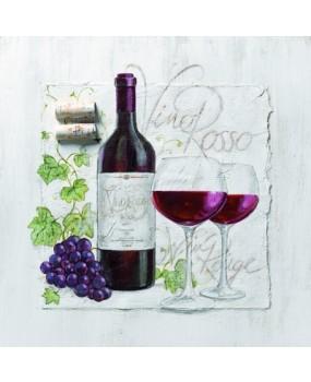 Χαρτοπετσέτες Decoupage 33 x 33 οίνος κόκκινος
