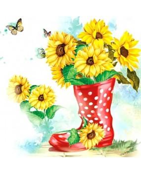 Χαρτοπετσέτες Decoupage 33 x 33 sunflowers