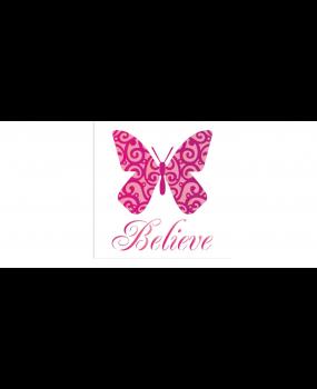 stensil 14χ14 Butterfly Believe 1370