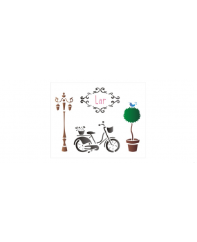 stensil 20χ25  Bicycle and Post 1401
