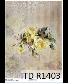 Ριζόχαρτο Α3 40gr Χελιδόνια Λουλούδια R1403