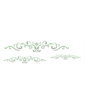 stensil 10χ30 Arabesque 3 leaves 1459