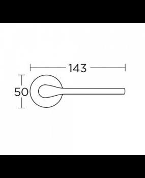 Χερούλι πόρτας  ροζέτα μαύρο ματ 1515