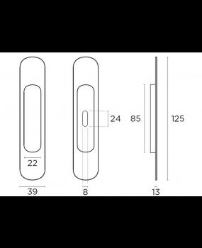 Χούφτα πόρτας σειρά αντικέ ματ C135