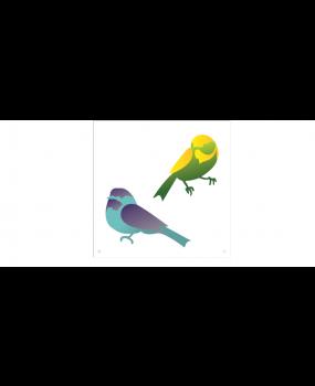 stensil 14χ14 Πουλιά 1748