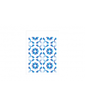 stensil 15χ20Stamping Tile 1884