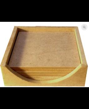 Σουβέρ τετράγωνα με θήκη