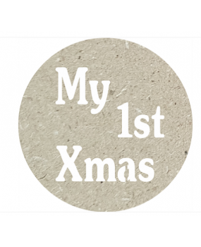 Πλακετίτσα για τα πρώτα Χριστούγεννα mdf