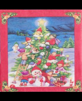 Χαρτοπετσέτες Decoupage 25x25 χριστουγεννιάτικο δέντρο