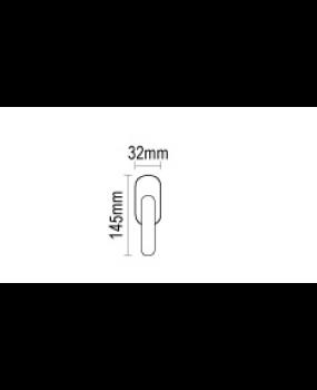 Γρυλόχερο παραθύρων σε νίκελ ματ  08.1011.P7