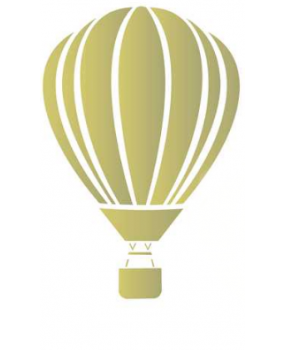 stensil  80 x 53 Αερόστατο 1055