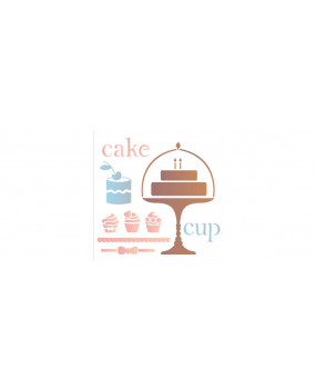 stensil 50,5χ50,5 Cake 2088
