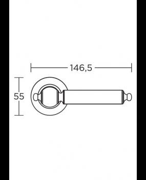 Χερούλι πόρτας  ροζέτα Αντικέ / ματ   295