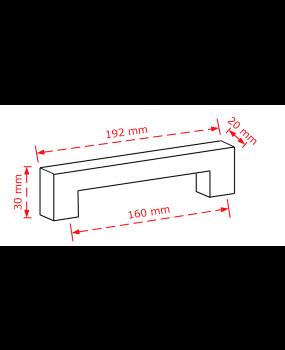 πομολάκι επίπλων  χρώμιο γυαλιστερό 160mm  2279/160
