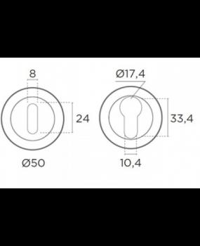 Ροζέτα Conset Νίκελ ματ/Χρώμιο  C245