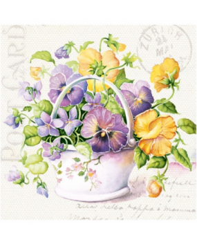 Χαρτοπετσέτες Γράμμα από λουλούδια