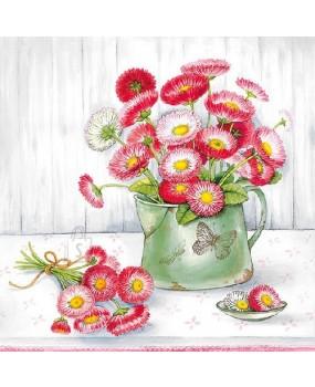 Χαρτοπετσέτες Decoupage 33 x 33  Βάζο με λουλούδια