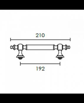 Λαβή εξώπορτας  192mm ΜΑΤ OΡΟ - ΟΡΟ C295