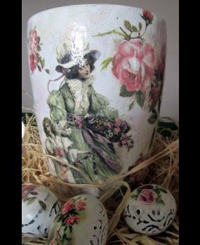 Ριζόχαρτο Α4 40gr Φόντο με λουλούδια και γυναίκες