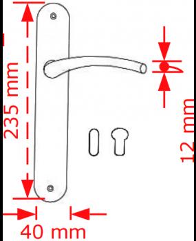 Χερούλι πόρτας πλάκα νικελ new desing  4086