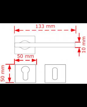 Χερούλι inox matt chrome  πόρτας