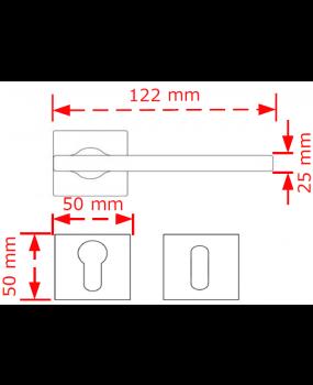 Χερούλι ροζέτα nox matt/chrome 4090