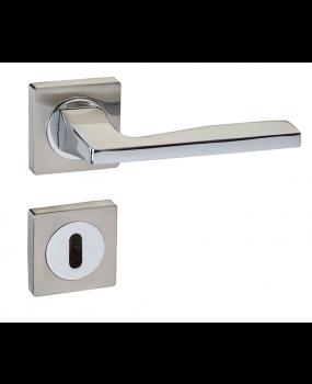 Χερούλι πόρτας ροζέτα nikel matt/chrome 4120