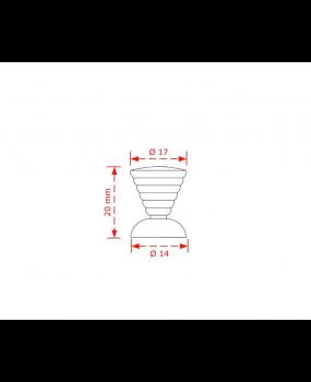 Πομολάκι επίπλων μπίλια νίκελ Νο 42Β