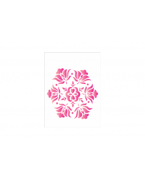 stensil 15χ20 Mandala Flowers 424